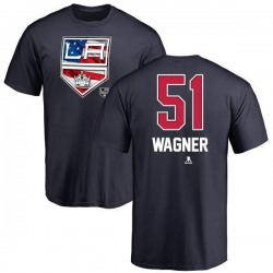 Men's Austin Wagner Los Angeles Kings Name and Number Banner Wave T-Shirt - Navy